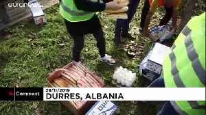 Residents crowd aid centre for food after deadly Albania quake [Video]