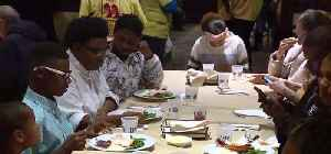Thanksgiving feast at Piero's [Video]