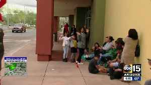 News video: Black Friday shoppers line up for deals