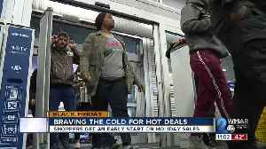 News video: Black Friday shoppers brave the cold for hot deals