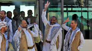 News video: Houthi prisoners freed by Saudi Arabia return to Yemen: Red Cross