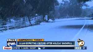 Julian expected holiday visitors after holiday snowfall [Video]