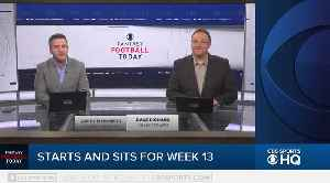Fantasy Football Start & Sit Week 13 [Video]