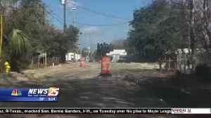 Biloxi Road Work: asphalt and sidewalk preps for Forrest Avenue [Video]