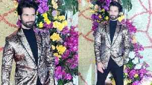 Shahid Kapoor ROYAL Look At The GRAND Reception Of Sooraj Barjatya's Son Devaansh Barjatya's Wedding [Video]