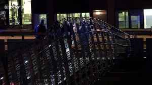 Forensic teams work on London Bridge after knife attack left assailant shot dead [Video]