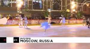 Celebrities open seasonal skating rink in Moscow's Red Square [Video]