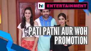 Pati Patni Aur Woh: Kartik Aaryan, Ananya Panday, Bhumi Pednekar on promotion spree [Video]