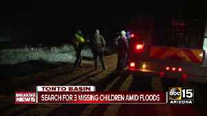 News video: Three children reported missing after flooding in Tonto Basin area