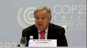 News video: Climate 'point of no return' is hurtling towards us - UN chief Guterres