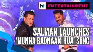 News video: Dabangg 3 | Salman, Prabhudeva perform Munna Badnaam Hua's hook step at song launch