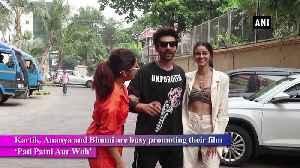 Star cast of Pati Patni Aur Woh on promotional spree in Mumbai [Video]