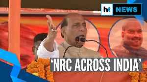'We'll implement NRC across India': Rajnath Singh [Video]