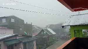 Typhoon Kammuri batters the Philippines with heavy rain as country holds Southeast Asia Games [Video]