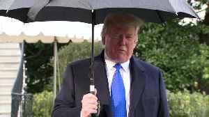 Trump off to NATO says impeachment probe a 'disgrace' [Video]