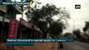 News video: Student threatens to commit suicide demanding capital punishment in Telangana rape case