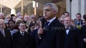News video: 'We take hope from the heroism of ordinary Londoners,' says mayor Sadiq Khan at vigil for London Bridge victims