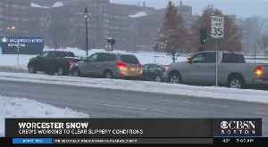 News video: 7 Inches Of Snow Falls In Worcester In First Storm Of Season