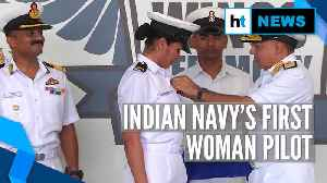 Sub-Lieutenant Shivangi becomes Indian Navy's first woman pilot [Video]