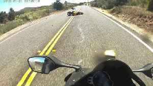 Rider Helps After Crash with Car [Video]
