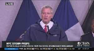 Mayor De Blasio, Officials Update On NYC Storm Prep [Video]