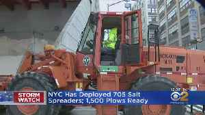 NYC Deploying 705 Salt Spreaders, 1,500 Plows For Storm [Video]