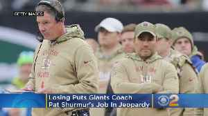 News video: Losing Has Giants Coach Pat Shurmur In Jeopardy