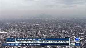 Poor visibility on Monday in Denver [Video]
