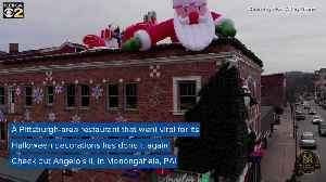 Angelo's II Unveils Christmas Decorations To Top Its Viral Halloween Display [Video]