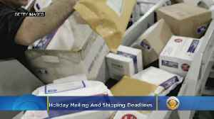 News video: 2019 Holiday Mailing And Shipping Deadlines