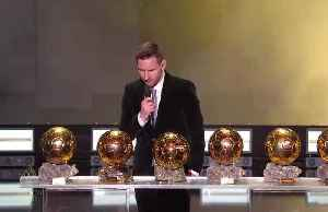 Messi wins record sixth Ballon d'Or [Video]