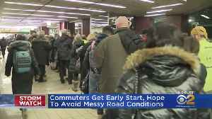Commuters Get Early Start, Hope To Avoid Messy Road Conditions [Video]