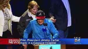 News video: Former President Jimmy Carter Hospitalized Again