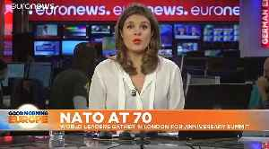 News video: NATO summit toasts 70 years. But is it waving or drowning?