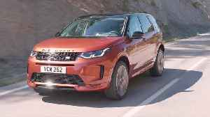 News video: New Land Rover Discovery Sport in Namib Orange On-Road Driving