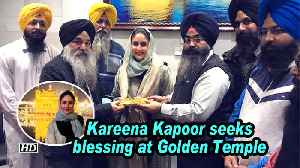 News video: Kareena Kapoor seeks blessing at Golden Temple