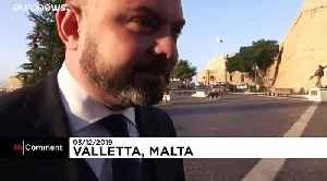 Egg thrown at Maltese Justice Minister Owen Bonnici by angry protesters [Video]