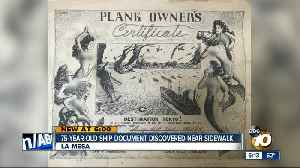 75-year-old ship document discovered near sidewalk [Video]