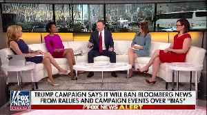 News video: Trump Campaign Says It Will Ban Bloomberg News From Events