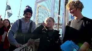 News video: Greta Thunberg docks in Lisbon after 20-day Atlantic crossing