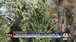 News video: Tree trimming company hopes to provide Christmas trees for local families in need