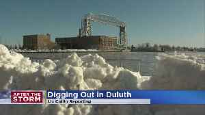Duluth Digging Out From Almost 2 Feet Of Snow [Video]