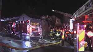 Firefighter Injured While Battling Fire [Video]