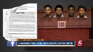 Three workers fired after teens escape juvenile justice center [Video]