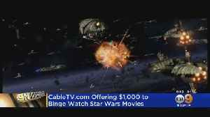 Eye On Entertainment: Website To Pay Star Wars Fans $1,000 To Watch All 10 Films [Video]