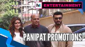 Arjun Kapoor, Kriti Sanon, Ashutosh Gowariker promote Panipat