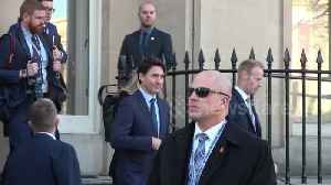 News video: Canadian Prime Minister Justin Trudeau makes his way to NATO summit in London