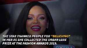 Rihanna collects Fashion Award on behalf of Fenty [Video]