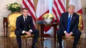News video: Watch Trump And Macron Jab Each Other Over ISIS Fighters