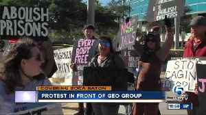 News video: Protest held at The Geo Group in Boca Raton